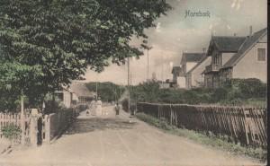 Fra postkort 1907, Strandvejen ud for Per Bjørns Vej